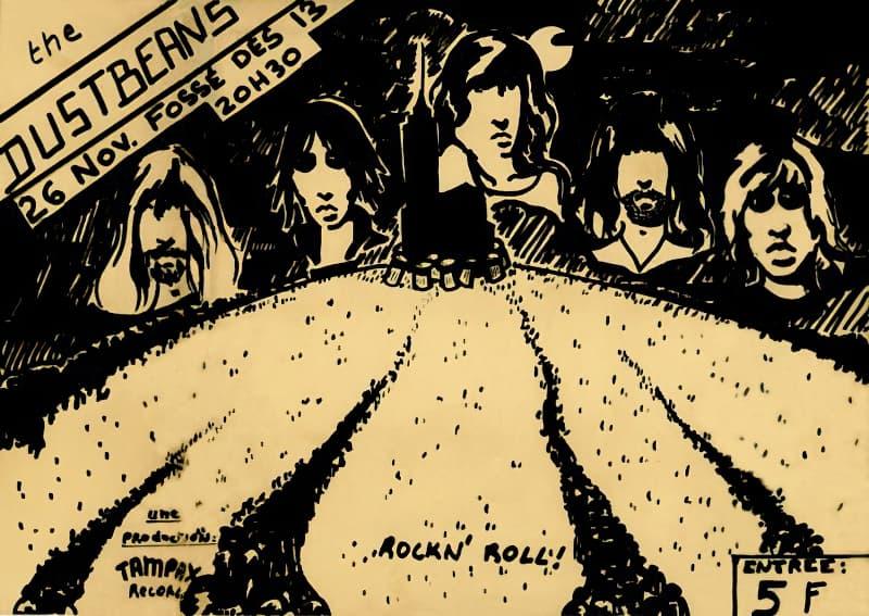 L'affiche du concert au Fossé-des-Treize le 26 novembre 1977
