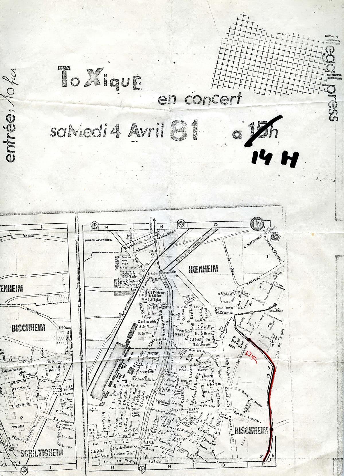 Affiche du concert de Toxique à Bischeim