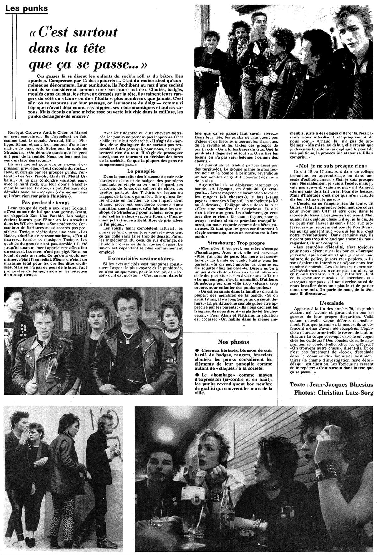 Article paru dans les Dernières Nouvelles d'Alsace le 30 juin 1982