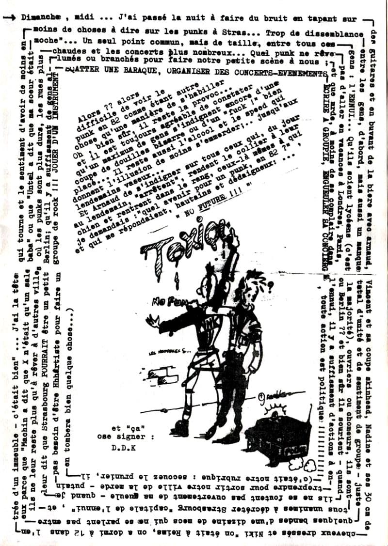Extrait du fanzine Groupie n°3 (juin 1982)