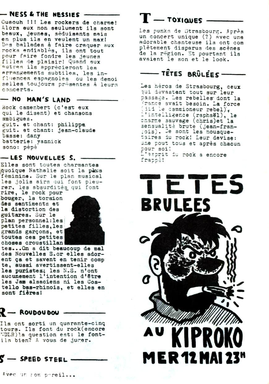 Extrait du fanzine Groupie n°2 (mars 1982)